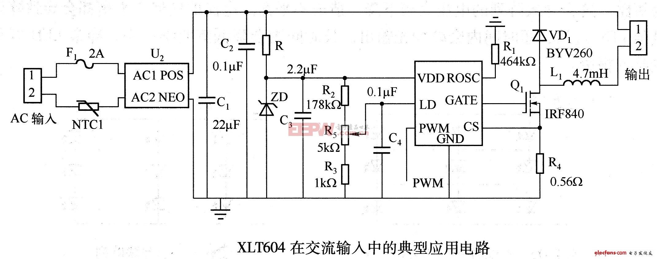 XLT604典型应用电路图