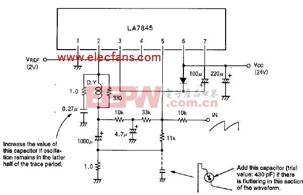 LA7845 场输出电路应用电路