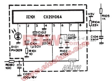 CX2016A红外接收应用电路图