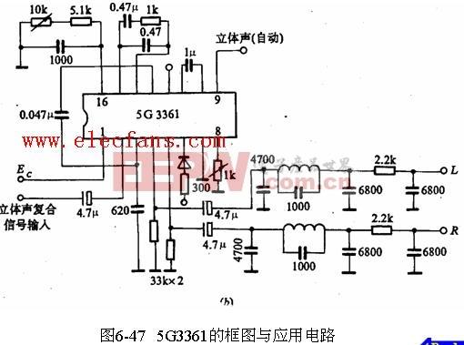 5G3361應用電路與框圖