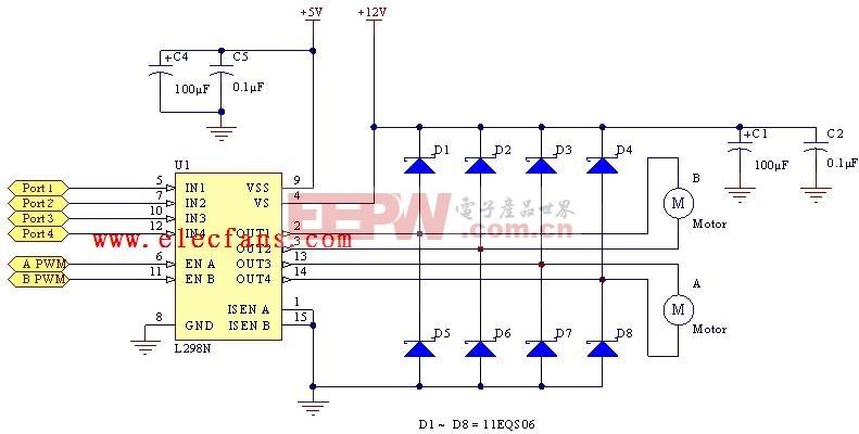 L297步进电机控制电路