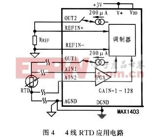 4线RTD应用电路