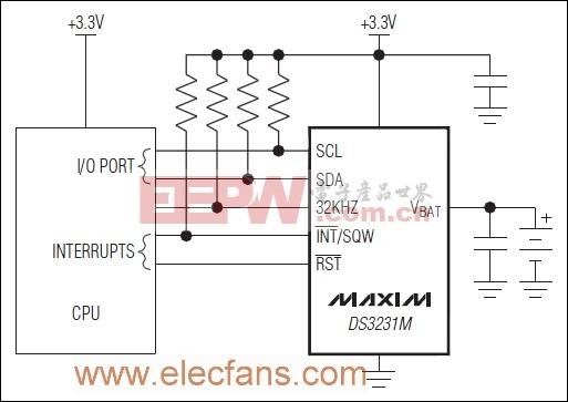 DS3231M参考应用电路