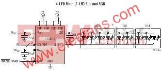 LTC3219-250mA通用型9通道LED驱动器
