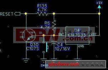 KIA7033构成的51单片机复位电路