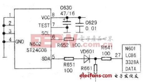 康佳T2588E彩電CPU保護電路原理圖