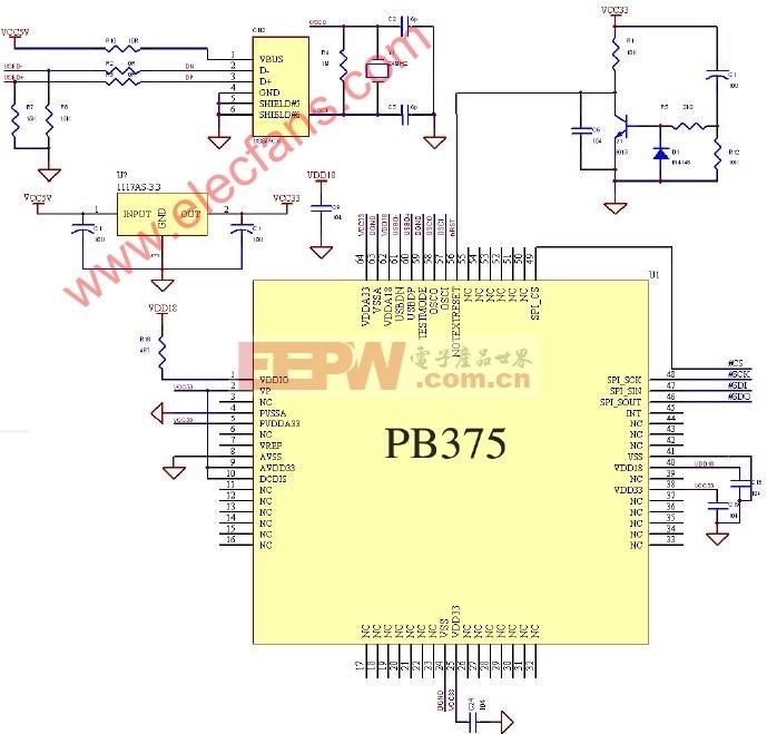 PB375参考应用电路图
