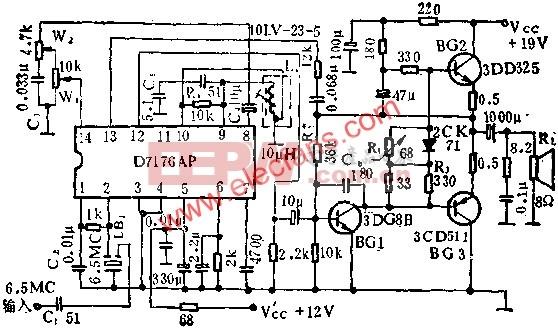 D7176AP伴音电路的应用电路图