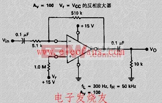 VF VCC的反相放大器电路