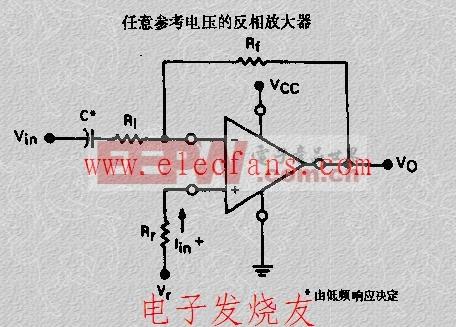 任意参考电压的反相放大器电路