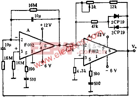 1HZ以下的正弦波振荡器电路图  www.elecfans.com