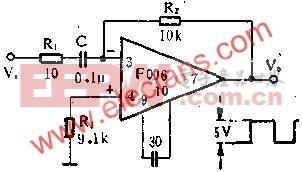 三角波转换成方波电路图  www.elecfans.com