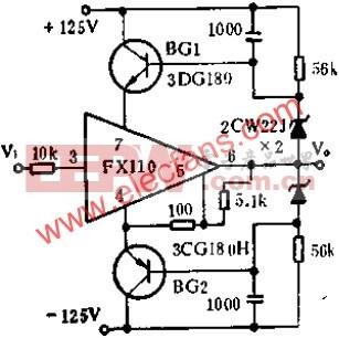 高压跟随器电路图  www.elecfans.com
