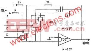 F007组成的可控积分器