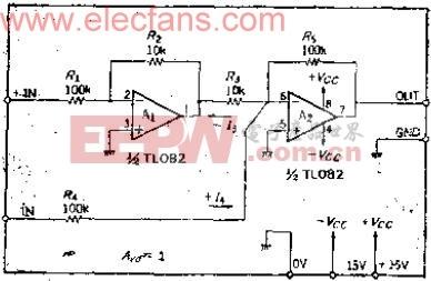 可以输入正负100V共模电压的高电压输入差动放大