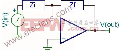 采用运算放大器的积分器电路分析