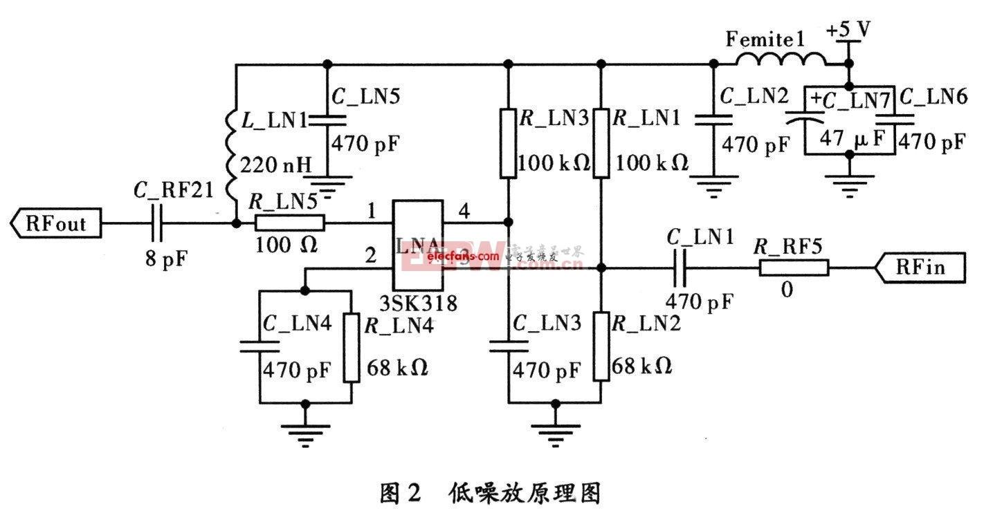 低噪声射频放大器电路