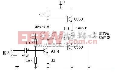 简易晶体管小 功放 电路 电路图 电子产品世界高清图片