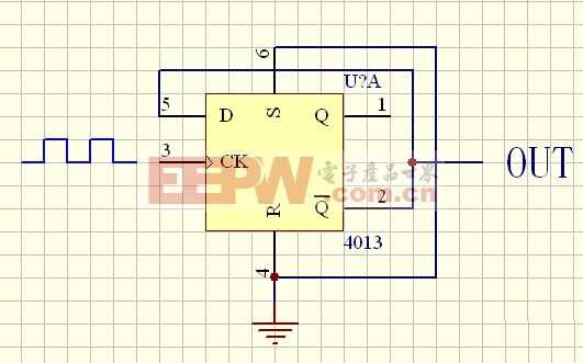 (图)用D触发器实现二分频电路