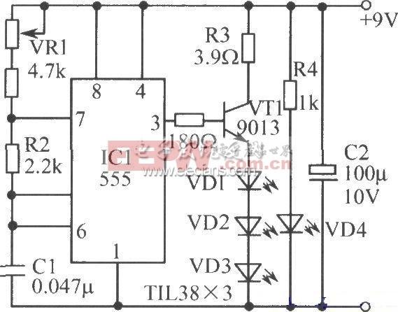 数字电路组成的计数器原理电路
