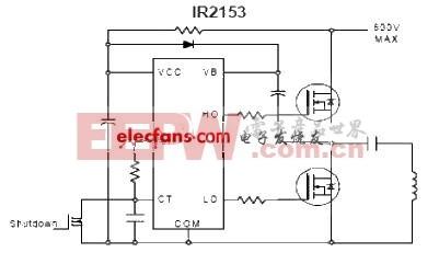 MOSFET管IR2153应用电路图