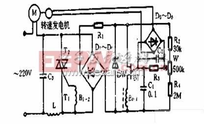 双向可控硅与单结晶管构成控制电路