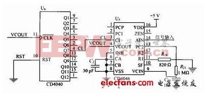 频率跟踪的锁相环电路