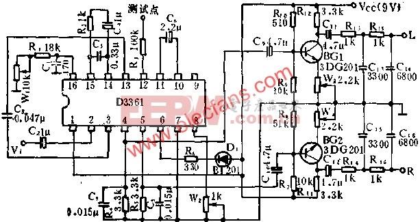 D3361锁相环调频立体声解码电路的应用  www.elecfans.com