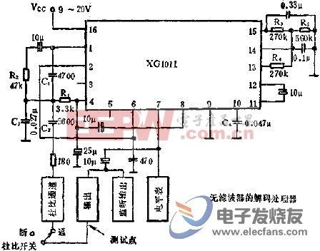 XG1011杜比B型降噪电路的应用  www.elecfans.com