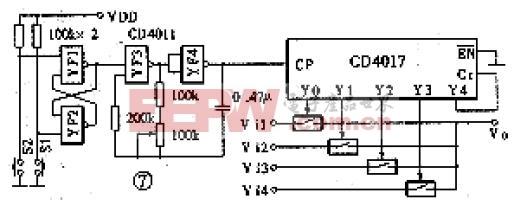 四路视频信号切换器电路