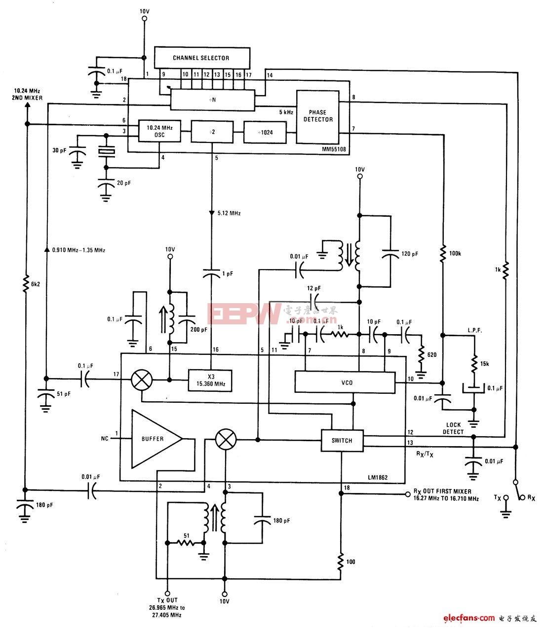 双转换频率合成器电路