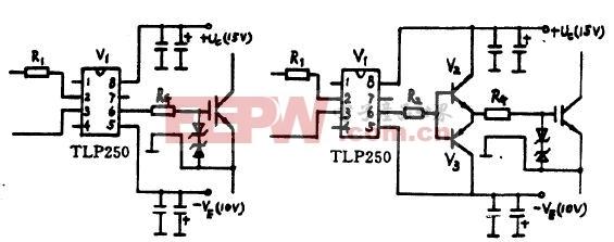 集成电路TLP250构成的IGBT驱动器及电路 www.elecfans.com
