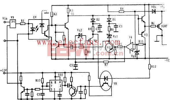 具有软栅压、软关断保护功能的IGBT驱动电路