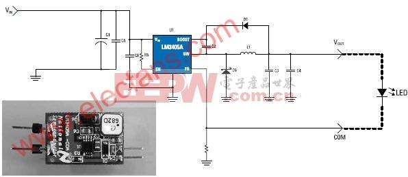 采用LM3405A的MR16照明系统