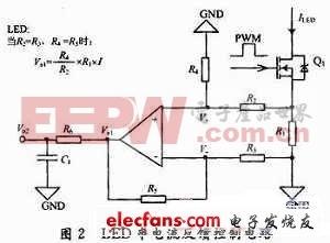 LED串电流反馈控制电路