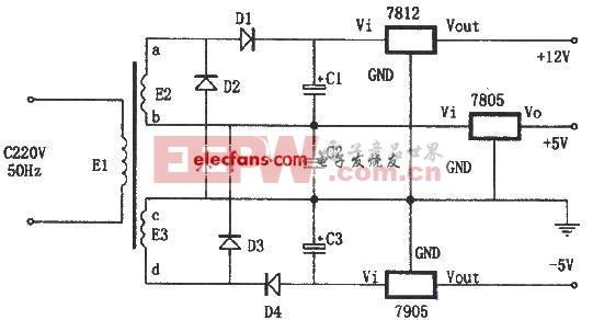 能全波整流的线性稳压电源电路 [收藏]