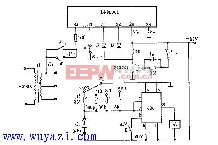 电路 测量/如图所示,本电路通过测量单稳定时间,即Cx上电压从零充电上升...