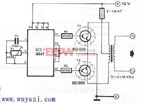 12至220伏电压转换电路图片