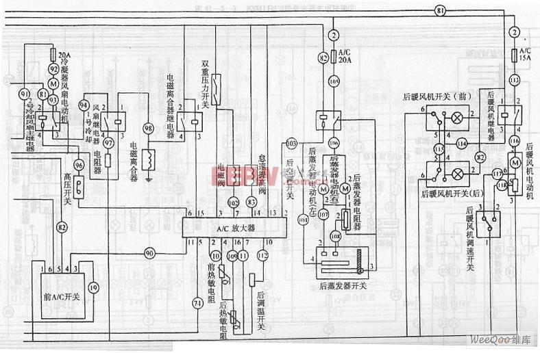 金杯海狮RZH115LB型客车整车电路图高清图片