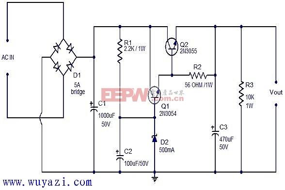 直流稳压电源电路设计图片