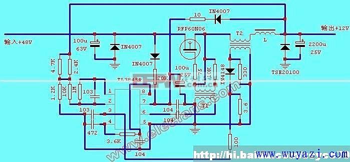 电动车电源转换器电路图图片
