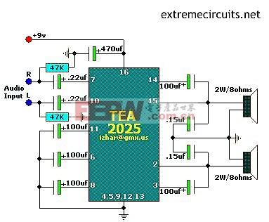 TEA2025应用电路图