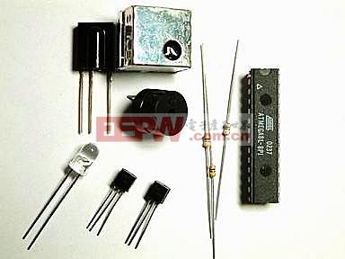 采用AVR单片机制被动式红外线报警器实验