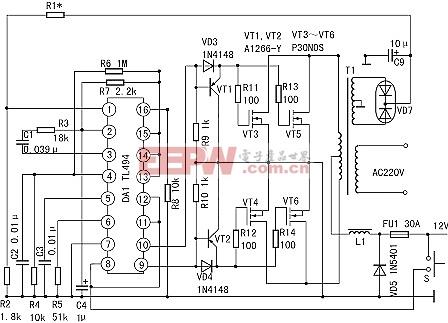 使用TL494的简易逆变器电路