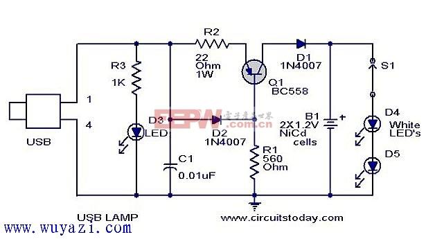 usb led灯驱动电路设计