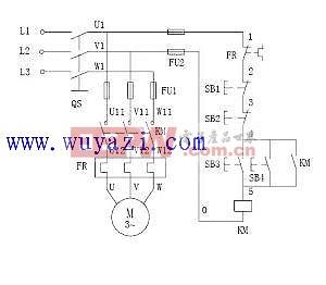 异步电动机两地控制电路图图片