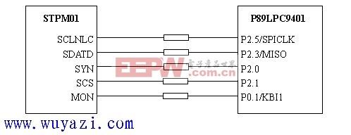 SPI接口与单片机接口原理图(STPM01与P89LPC94)