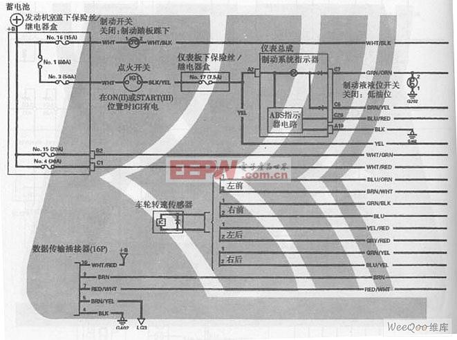 广州本田飞度轿车abs电路图