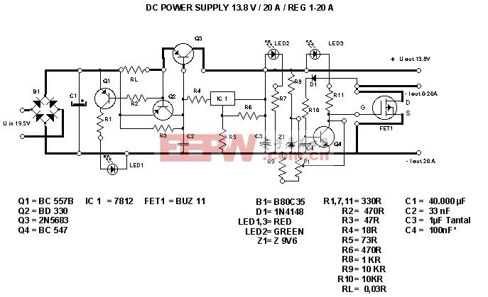直流稳压电源电路图图片