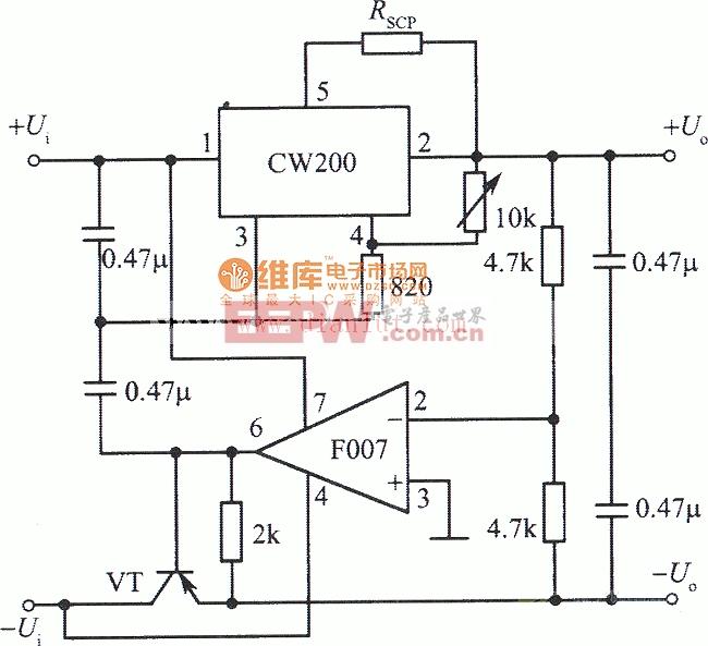 跟踪式集成稳压电源(CW200)电路